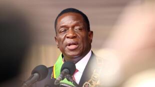 Rais wa Zimbabwe Emmerson Mnangagwa.
