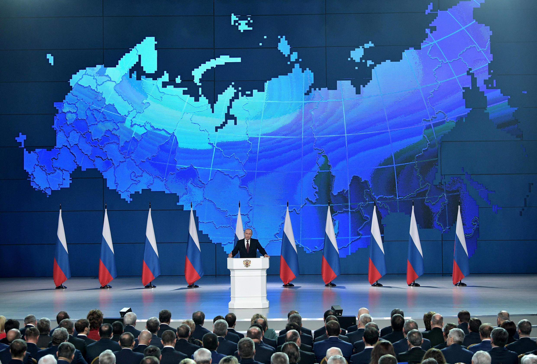 Discours de Vladimir Poutine, devant l'Assemblée fédérale russe, le 20 février 2019.
