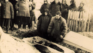 Burial in a Gulag camp, Kazakhstan.