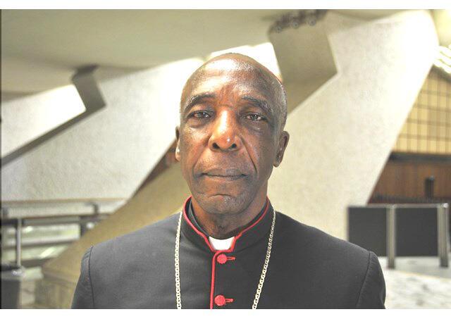 Mgr Louis Portella Mbuyu, évêque de Kinkala dans le département du Pool, au Congo-Brazzaville.