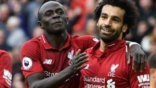 Sadio Mané et Mohamed Salah lors d'une rencontre face à Southampton en Premier League, le 22 septembre 2018.