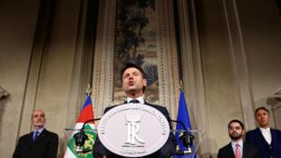 O novo primeiro-ministro italiano, Giuseppe Conte.