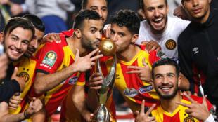 Les joueur de l'Espérance de Tunis, champions d'Afrique, le 9 novembre 2018 (Photo d'illustration).