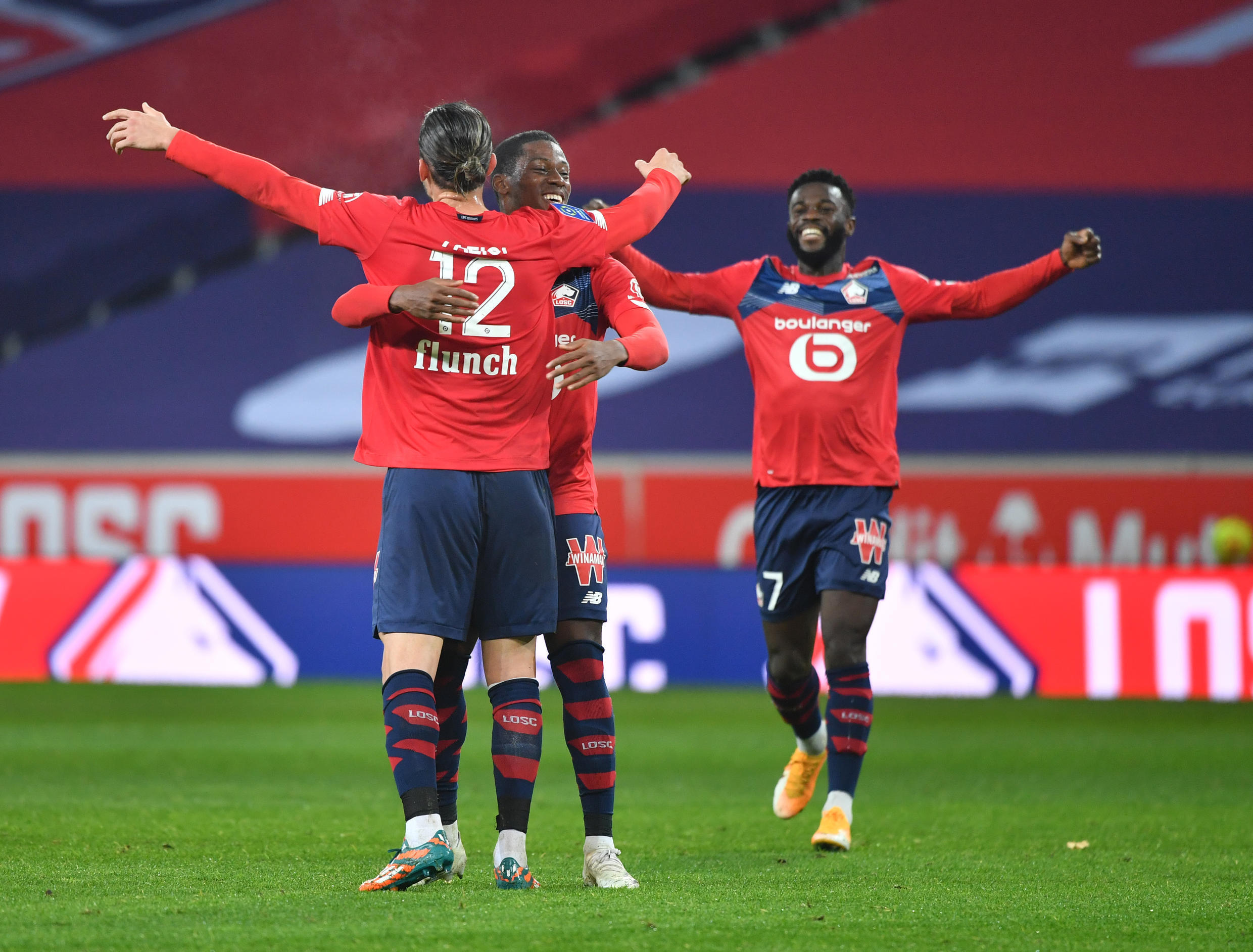 A equipa do Lille ocupa o 2° lugar na Ligue 1.