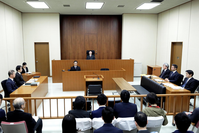 Ông Carlos Ghosn trình diện trước tòa án Tokyo ngày 08/01/2019.