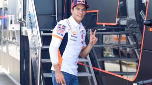 Le sextuple champion du monde espagnol de MotoGP, Marc Marquez, au Grand Prix d'Andalousie, le 26 juillet 2020 sur le circuit de Jerez