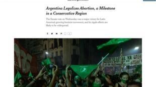 portada NYT aborto argentina