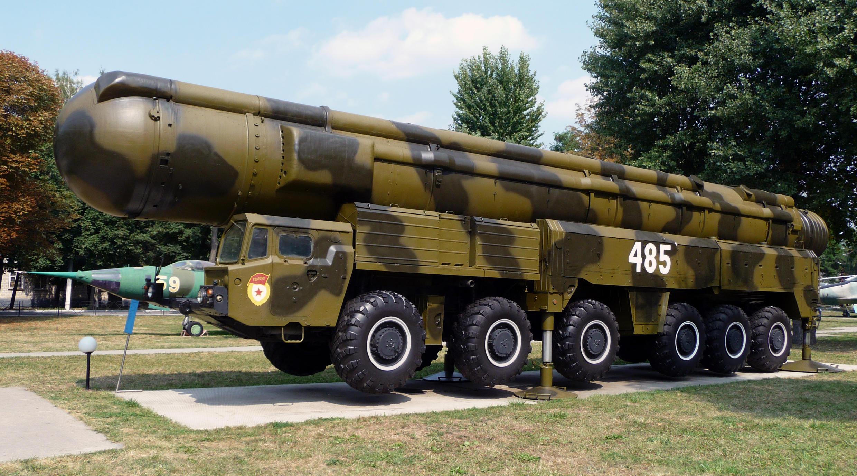Véhicule lance-missile SS-20 dans un musée ukrainien.