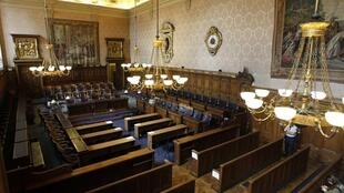 The court before the opening of the Clearstream trial on 2 May