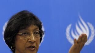 A Alta Comissária das Nações Unidas para Direitos Humanos, Navi Pillay.