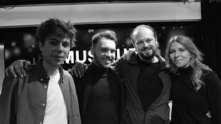 Antoine Boyer, Samuelito, Canito et Rocio Marquez à RFI.
