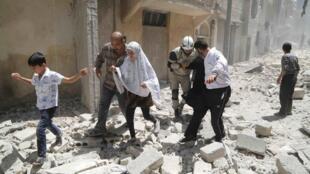 نمائی از ویرانه های شهر حلب در سوریه