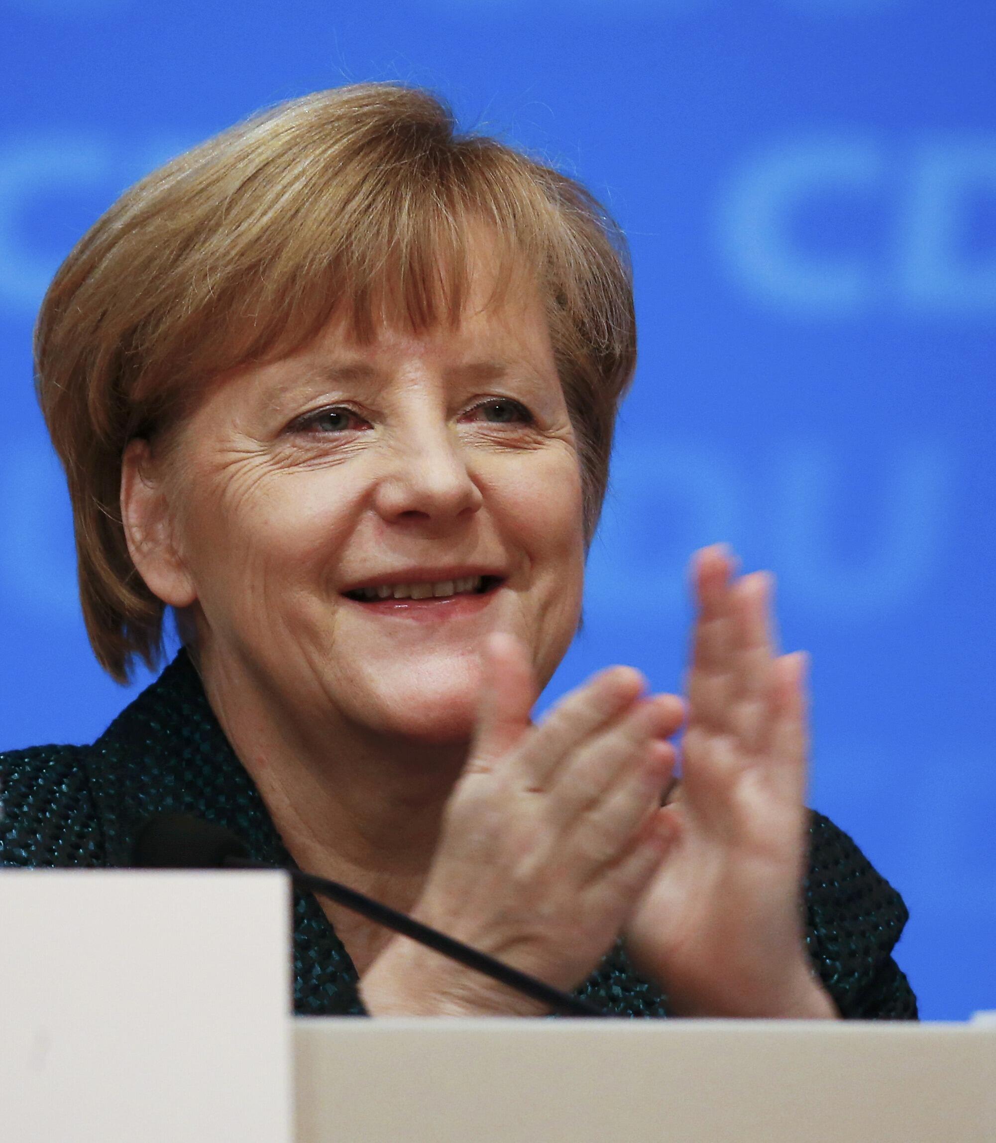 A chanceler alemã Angela Merkel durante congresso da CDU.