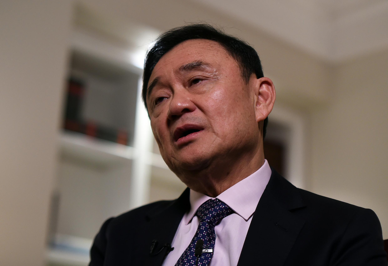 Cựu thủ tướng Thái Lan Thaksin Shinawatra trả lời phỏng vấn tại New York ngày 09/03/2016.