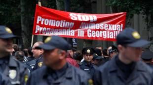 Гомофобская манифестация в Тбилиси в Международный день борьбы с гомофобией 17/05/2013 (архив)