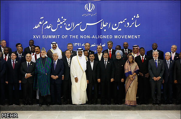 16th summit of the Non-Aligned Movement in Tehran, 30 August, 2012