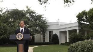 U.S. President Obama delivers a statement to the media about financial regulatory reform in Washington