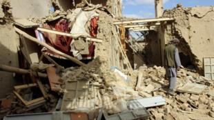 Một ngôi nhà bị phá hủy ở Kunduz, Afghanistan. Ảnh minh họa chụp ngày 04/11/2016.