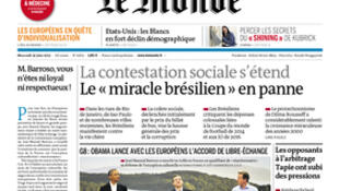 Capa do jornal Le Monde desta terça-feira, 18 de junho.