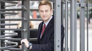 Алексей Навальный на выходе из ЕСПЧ. Страсбург. 15.11.2018