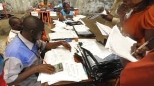 Des agents électoraux de la Céni à Goma en 2011 (photo d'illustration).