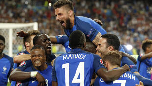 The France team after its victory over Germany in Marseille last week