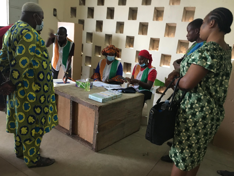 Bureau de vote à Bouaké.