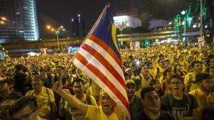 Phong trào dân sự Bersih biểu tình phản đối thủ tướng Najib, Chủ nhật 30/08/2016, sau khi thông tin về vụ 1MDB phát lộ.