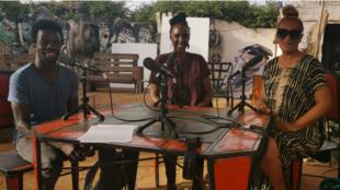 Basile Yawanke, Carole Karemera et Cécile Kankonda.