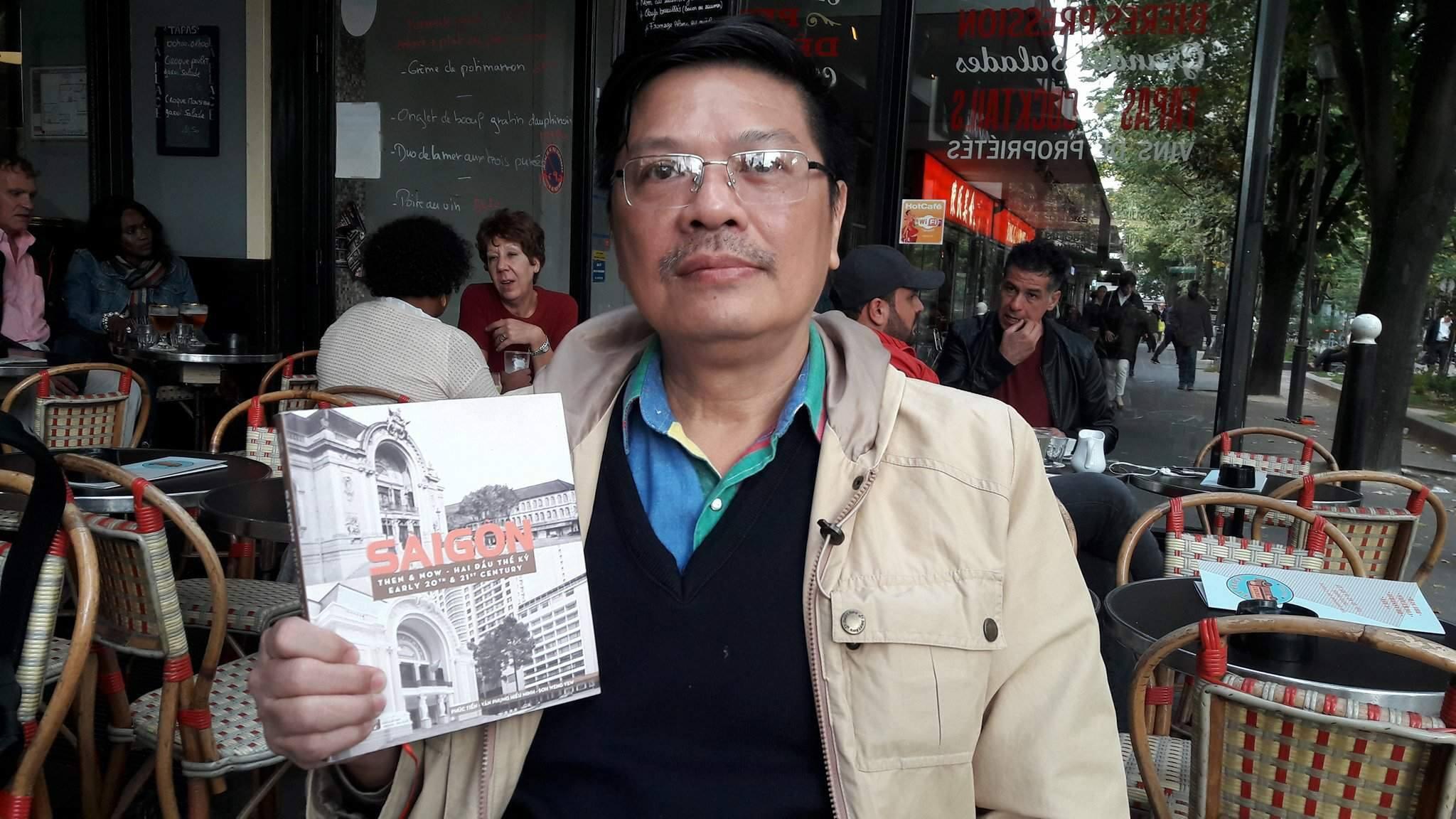 """Tác giả Phúc Tiến tại Paris với cuốn sách """"Sài Gòn Then and Now. Hai đầu thế kỷ"""""""