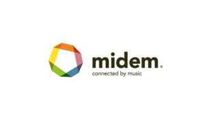 Logo del MIDEM -Mercado Internacional del Disco y la Edición Musical-.
