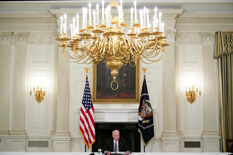 El presidente de Estados Unidos, Joe Biden, habla durante una reunión con cubano-estadounidenses el 30 de julio en la Casa Blanca.