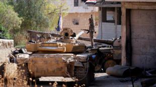 Soldat de l'armée syrienne à Khan Cheikhoun, dans la province d'Idleb, le 24 août 2019 (image d'illlustration).