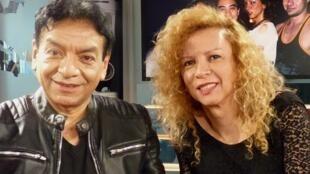 Santi Zegarra y Giovanna Rincón en los estudios de RFI