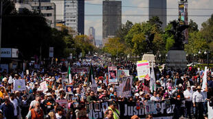 A march against violence, in the streets of Mexico, 26 January, 2020.