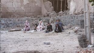Imagen de un pueblo en el noroeste iraní tras el terremoto del sábado 11/08/2012