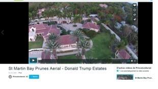 Château des Palmiers, khu biệt thự của tổng thống Mỹ Donald Trump ở Plum Bay, trên đảo Saint-Martin, quần đảo Antilles. Ảnh chụp từ màn hình Vimeo.