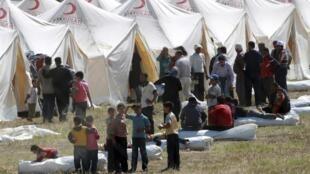 Сирийские беженцы в Турции, 13 июня 2011 года
