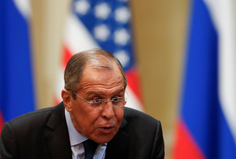 Ngoại trưởng Nga Serguei Lavrov tại Helsinki, Phần Lan nhân cuộc gặp thượng đỉnh Putin-Trump hôm 16/07/2018.