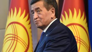 El presidente Sooronbay Jeenbekov, durante su rueda de prensa de fin de año el 25 de diciembre de 2019 en Biskek