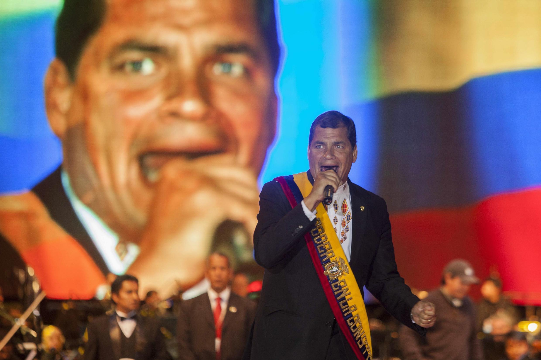 Le président équatorien Rafael Correa, le 24 mai dernier à Quito.