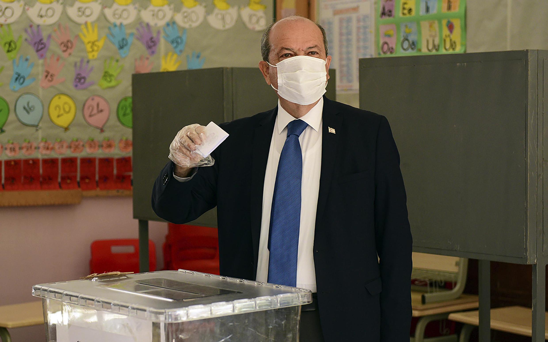 Avec 32,46% des voix, le candidat soutenu par la Turquie, Ersin Tatar, est arrivé le 11 octobre en tête du premier tour de l'élection «présidentielle».