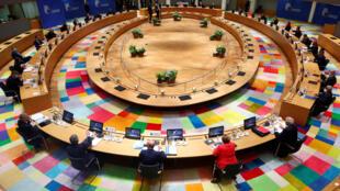 Os dirigentes da UE participam de uma cúpula presencial desde o início da epidemia do coronavírus