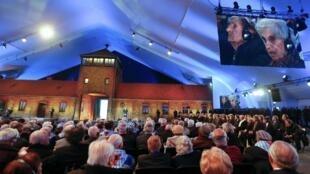 La cérémonie du 70e anniversaire de la libération du camp d'Auschwitz, en Pologne, le 27 janvier 2015.