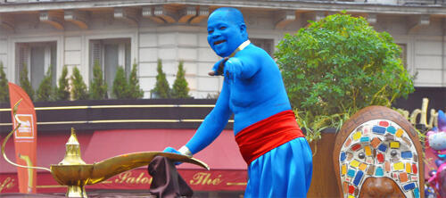Champs Elysees hosts the 2011 Carnival Festival