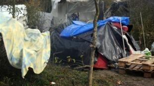 Dans le camp de Tétéghem près de Dunkerque, dans le nord de la France, le 18 novembre 2010.