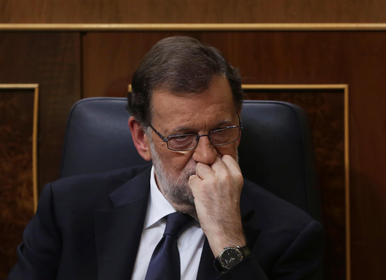 Ông Mariano Rajoy, ngày 29/10/ 2016 tại Quốc hội trước khi được giao quyền thủ tướng Tây Ban Nha.