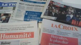 Primeiras páginas dos jornais franceses 05 de setembro de 2019