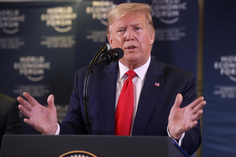 Tổng thống Mỹ Donald Trump tại Diễn đàn kinh tế Davos, ngày 22/01/2020.