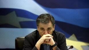 Tân Bộ trưởng Tài chính Hy Lạp Eclid Tsakalotos nhậm chức sau cuộc trưng cầu dân ý 05/07/2015.